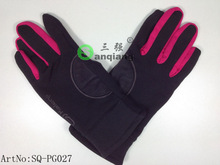 hot sale newest design polyester fleece/spandex full fingers outdoor skiiing gloves