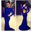venta al por mayor nkf033 body de manga larga vendaje 2014 elegante modelo nuevo vestido de noche