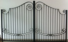 Modern and high quality wrought iron gate