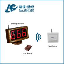 Ederly sos alarm wireless calling system, smart nurse call system