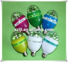 LED RGB 3W Rotating Party LED Bulb for Christmas/Xmas(CE&RoHS Compliant)