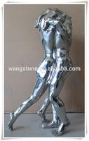 Famous Art Abstract Stainless Steel Battle Man Sculpture