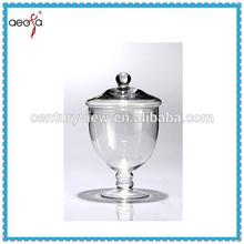 2015 New Design wedding pedestal glass candy favor jars