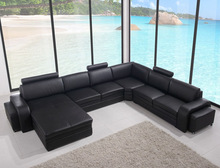 2015 popular big corner leather sofa ,home sofa, home furniture 8050
