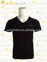 2015 Customize black t-shirt men t-shirt black
