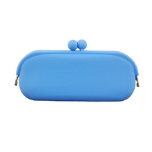 Candy Color Silicone Cell Phone Purse for Girls