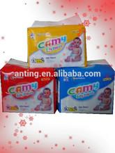 Beautiful design PE back film disposable baby diaper