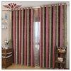 straw Weathermate Broadstripe Grommet-Top Thermal Cotton Curtain Panel Pair