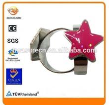 star shape children holiday Ornaments metal souvenir finger ring
