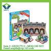 Educational toys 118pcs mini thomas train house funny 3d puzzle for kids