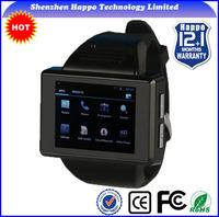 New 2014 wrist watch phone dual sim MTK6515 Android 4.1 Dual core RAM512M ROM512M watch Smart phone