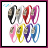 silicone band parts and plastic case cheap plastic wrist watch , silicone rubber sports bangle watch