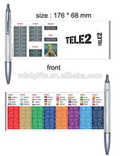 Plastic Advertising Ball Pen with Flyer Calendar