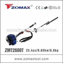 ZOMAX trimmer 25.4cc 0.85kW ZMT2600T pole hedge trimmer 2 stroke gasoline