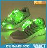 2014 new product fashional nylon fabric led flashing shoelace shoe lace china factory