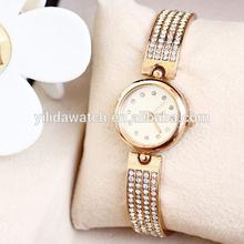 Fashion Ladies Rose Gold Bracelet Watch Full of Exquisite Diamond Quartz Watch Gift Watch for Women