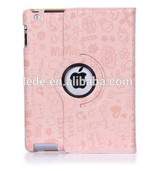 Magic Girl Rotating Leather Stand Case for Apple iPad 234/5/6/Mini 1/2 Retina Display Wholesale 10pcs/lot Online sale