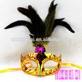 venta caliente pluma de oro pvc máscara de partido
