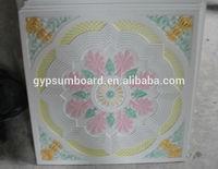 595*595mm fire rated gypsum ceiling tiles/ fiberglass reinforced gypsum ceiling tiles