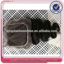 Heavy Density For Women Brazilian Virgin Hair Natural Virgin Hair V Part Lace Closure