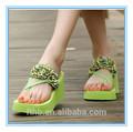 bohemia floral raso sandalias cuñas hembra de playa zapatos sandalias mujer