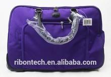 2015 wholesale custom plain Big capacity Polyester Travel Bag