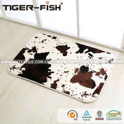 anti slip home entrance printed design black rubber mat