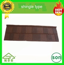 building material shingle colored stone coated roof tile