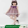 de alta calidad pequeña flor de gasa vestido de cumpleaños para la niña de siete años de edad