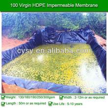 HDPE Waterproof Black Rolls Geomembrane , HDPE geomembrane liner