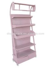 5 tiers pink metal display stand for nail polish