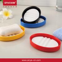 D589 round soap box plastic soap box soap dish holder