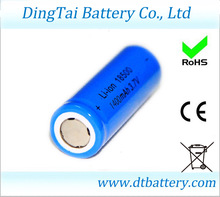 18500 /16500 3.7v 1400mah li-ion rechargeable battery for metal detector, led flashlight, digital photo frame