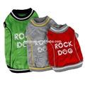 Perro de diamante de imitación bling pata de impresión de ropa para mascotas de roca cachorro de perro perro ropa chaqueta gris rojo color verde s-xxl