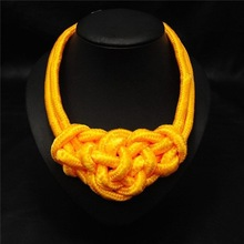 2014 latest design glow necklace,braided rope necklace