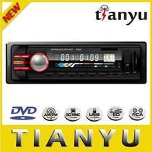 red illumination car radio with cd dvd player