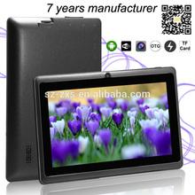mid mini tablet pc 7 inch Q88(A23) with WIFI+512MB RAM+4GB ROM+camera ZXS-Q88