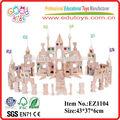 Wooden crystal castle building blocks