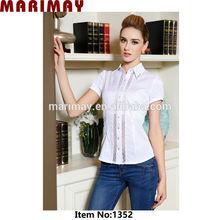 Projeto novo de fábrica mulher puff manga da camisa com laço bonito, xxxxl vestuário xl