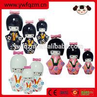 Promotional Handmade Wooden Japanese Girl Toy