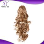Kanekalon Synthetic white women human hair ponytail