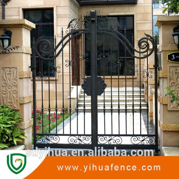 new design wrought iron main gate models buy iron gate