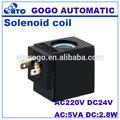4V110 tipo de enchufe eléctrico 12 v 24 v bobina de la válvula solenoide