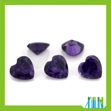 Wholesale high quality Top Quality Multicolor Heart Cut Cubic Zirconia Gems
