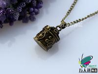 18X20MM Wish Box Necklaces Prayer Lockets aromatherapynecklace wish box lockets