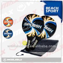 (2pcs Paddle + 1pc Ball) Beach Tennis paddle rackets set
