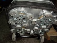 4 headed Concrete Polisher / Grinder / Mendel Pro Planetary machine