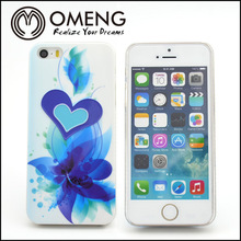 Blue heart stereoscopic cell phone case
