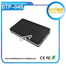 BTP-049 High Quality Dual USB Mobile Phone External Power Bank 6000mah Solar Charger