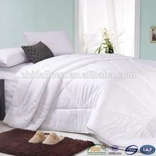 promotional elegant white color microfiber hotel quilt